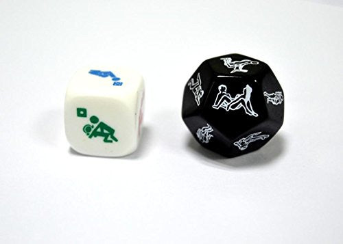 Novelty Dice for Party Game Adult Fun - 2 Pcs