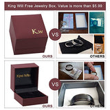 King Will Men's 8mm Tungsten Carbide Ring