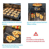 BBQ Grill Mat Set Of 3 Non Stick Grill Mats Reusable - Xamns
