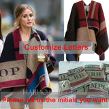 Women Poncho Prorsum Cashmere Wool Scarf Monogramed