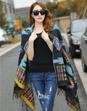 New Fashion Women's Cape Poncho Knit Top Cardigan Hip Scarf Shawl
