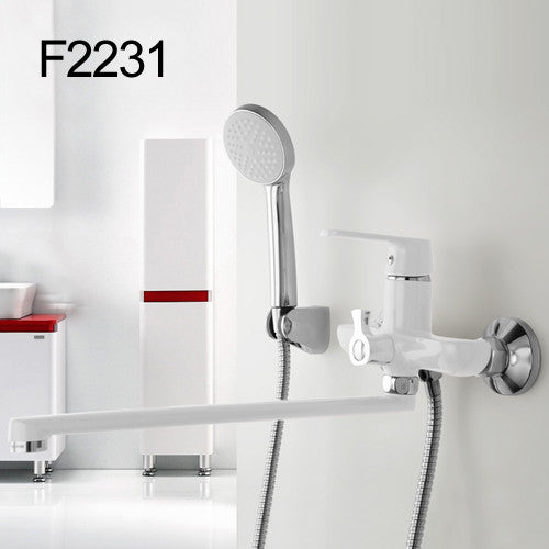 1 set 350mm Outlet Bath Shower Faucet Brass Body Surface Shower Head