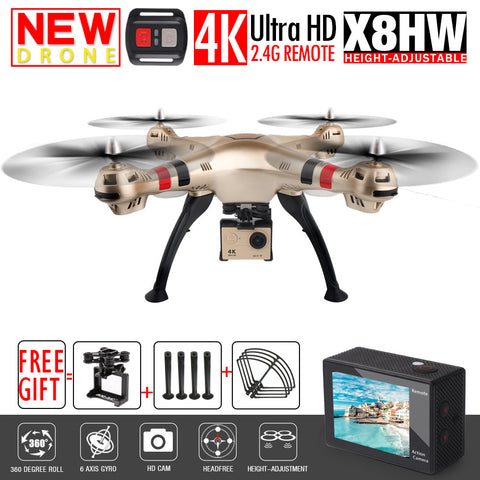 SYMA X8W FPV RC Drone With 4K/1080P WIFI Camera HD