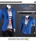 Single Button Leisure Blazers Slim Fit 6 Colors