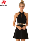 Bodycon Party Mini Bandage Dress Black Backless