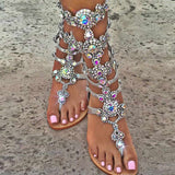 Summer Sandals With Rhinestones