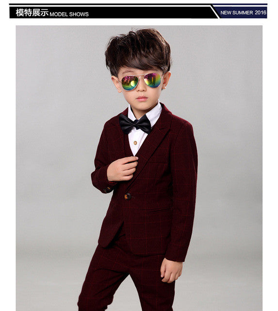Boys Wedding Suits Kid Tuxedos 5pieces