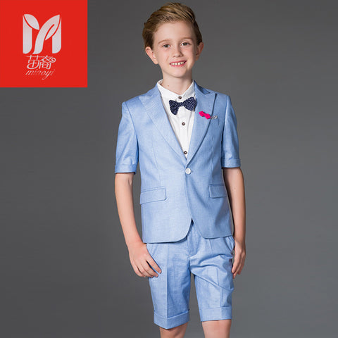 Four Pieces Boy Tuxedo Suit - Xamns