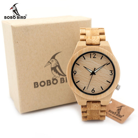 Bobo Bird D27 Bamboo Wooden Watch