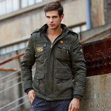 Men Thick Parkas Stand Collar Windproof Stylish Whole Cotton Material - Xamns