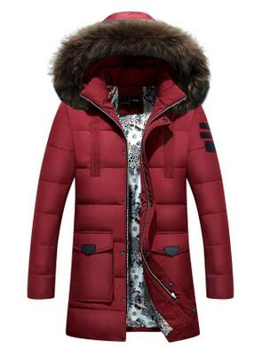 Men's Winter Jacket Padded Parka Man Long Thick