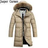 Winter Warm Men's Hooded Fur Collar Down Winter Parka Jacket