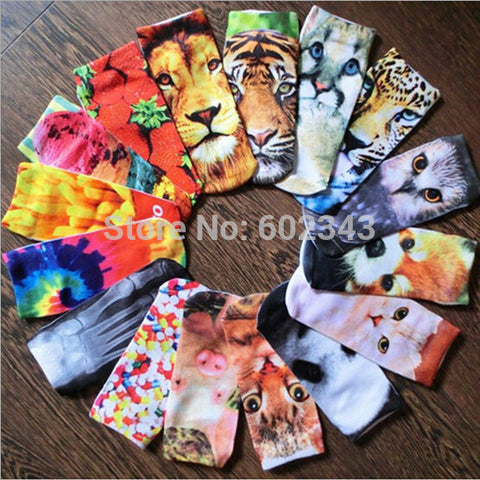 1pair 3D Printed Low Cut Ankle Women's Casual Charactor Socks - Xamns