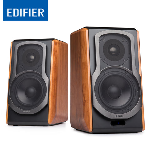 "Ultra-stylish Bookshelf Speaker with 4"" Bass Driver Front Facing Bass"
