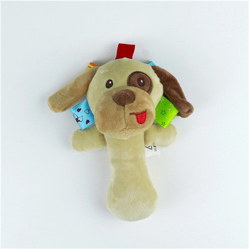Soft Animal Toy Ring Baby Plush Rattle Plush Toy