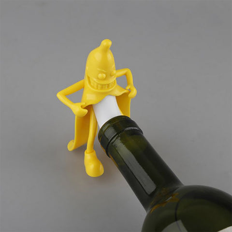 Hilarious Banana Shape Bottle Stopper Perfect Gag Gift