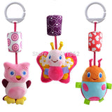 Baby  soft Toys bed car Hanging Ring Bell Rattle toy - Xamns