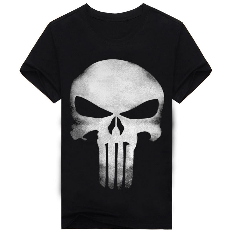 Summer Brand Clothing Skull Print 3D T Shirt