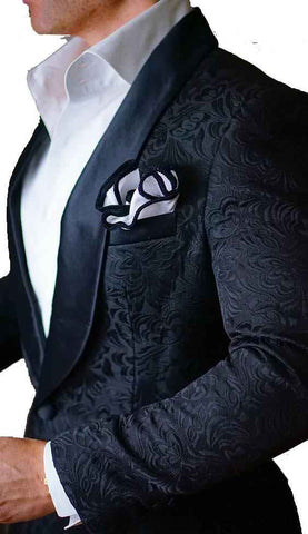 Paisley Mens Tuxedos Wedding Party Dinner Best Man Suits - Xamns