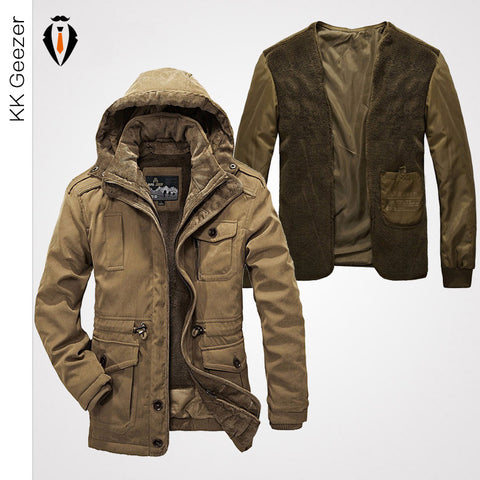 High Quality Casual Men's Winter Jacket Cotton-Padded Jacket Fashion Down Coat  Hooded Windproof Parkas ...