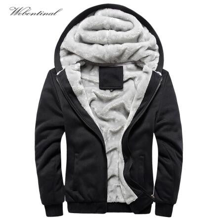 Winter Warm Thick Velvet Solid Sweatshirt