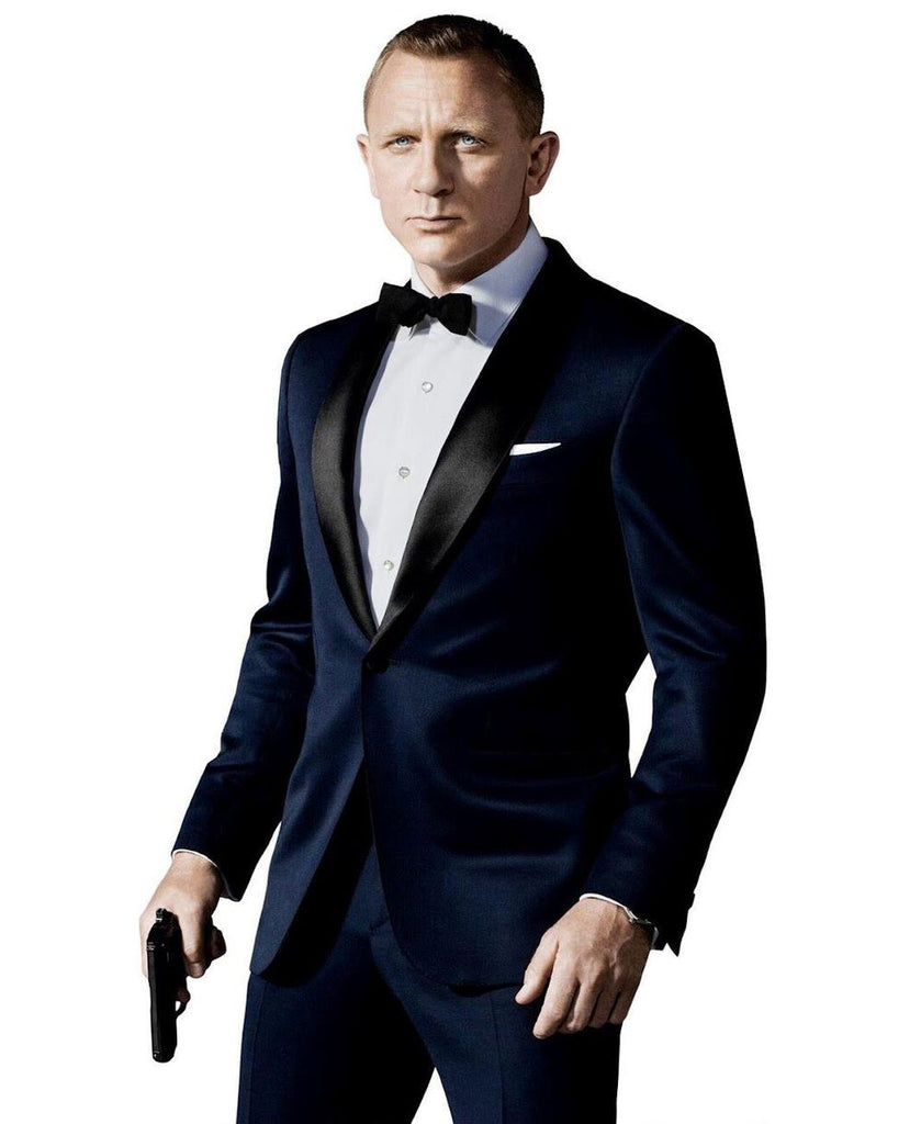 Groom Tuxedos Prom Wedding Suit (Jacket+Pants+Bow Tie) – Xamns