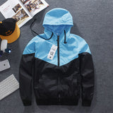 Men's Jacket Autumn Patchwork Reflective Waterproof Windbreaker