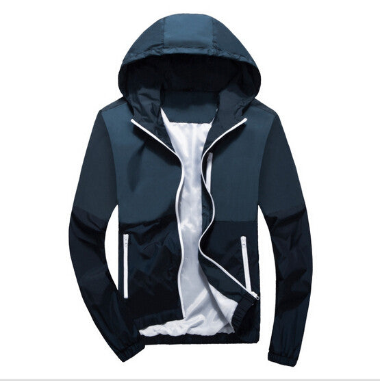 Men's Fashion Thin Windbreaker Jacket Zipper Coats - Xamns