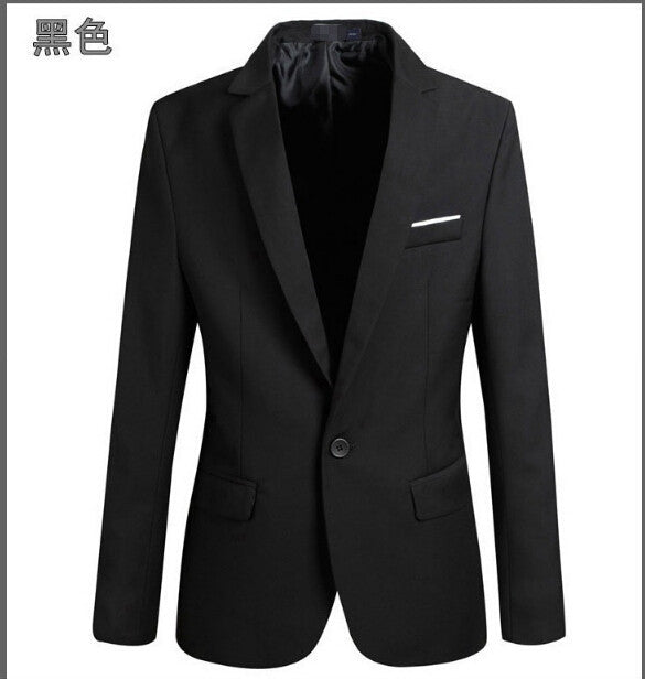 Casual Blazer Men Fashion Plus Size Business Slim Fit Jacket Suits Coat