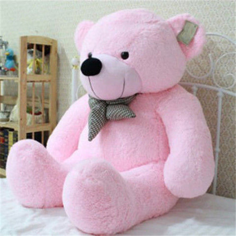 "39"" Stuffed Giant 100CM Big Pink Plush Teddy Bear Huge Soft 100% Cotton Doll Toy"