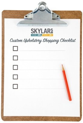 Custom Upholstery Shopping Checklist