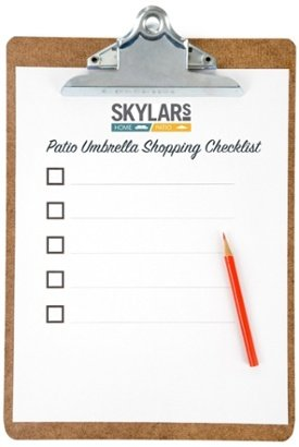 Patio Umbrella Shopping Checklist