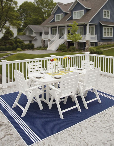 POLYWOOD® 7 Pc. Nautical Dining Set - Skylar's Home and Patio