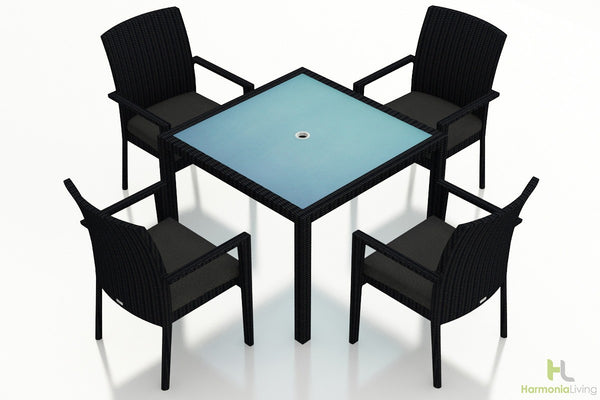 Urbana Coffee Bean 5 Pc Arm Dining Set