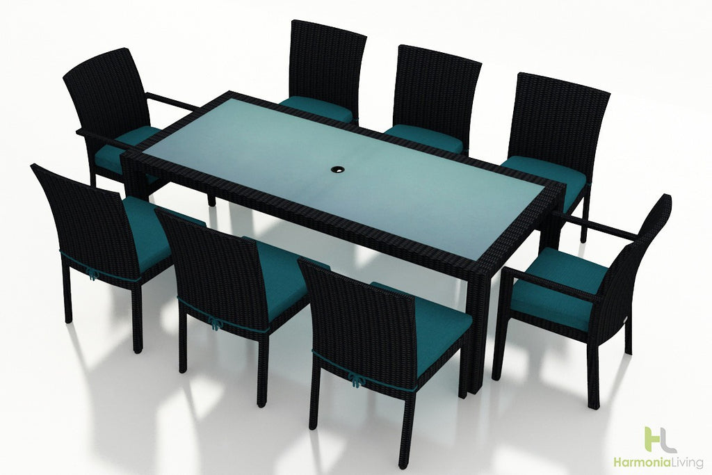 Urbana Coffee Bean 9 Pc Dining Set - Skylar's Home and Patio