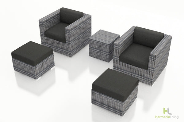 District 5 Pc. Club Chair Set