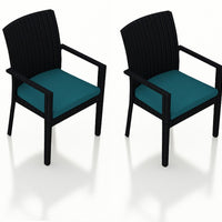 Urbana Coffee Bean Dining Arm Chair (Set of 2)