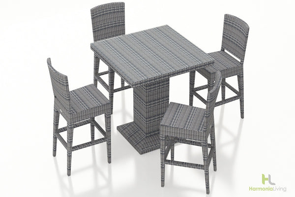 District 5 Pc Modern Bar Chair Set - Skylar's Home and Patio