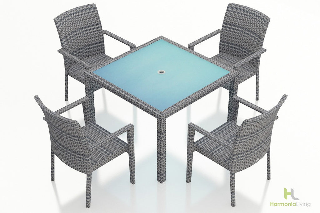 District 5 Pc Arm Dining Set