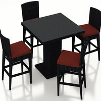 Urbana Coffee Bean 5 Pc Bar Chair Set - Skylar's Home and Patio