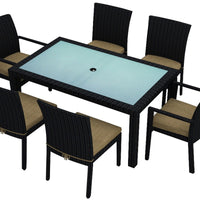 Urbana Coffee Bean 7 Pc Dining Set