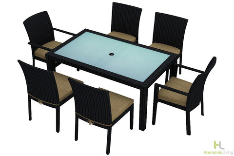 Urbana Coffee Bean 7 Pc Dining Set - Skylar's Home and Patio
