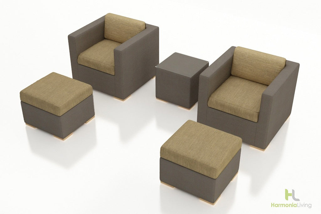 Element 5 Pc Club Chair Set - Skylar's Home and Patio