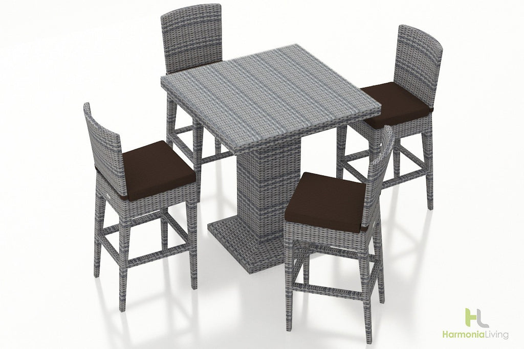 District 5 Pc Bar Chair Set