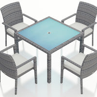 District 5 Pc Arm Dining Set - Skylar's Home and Patio