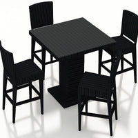 Urbana Coffee Bean 5 Pc Bar Chair Set