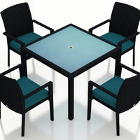 Urbana Coffee Bean 5 Pc Arm Dining Set - Skylar's Home and Patio