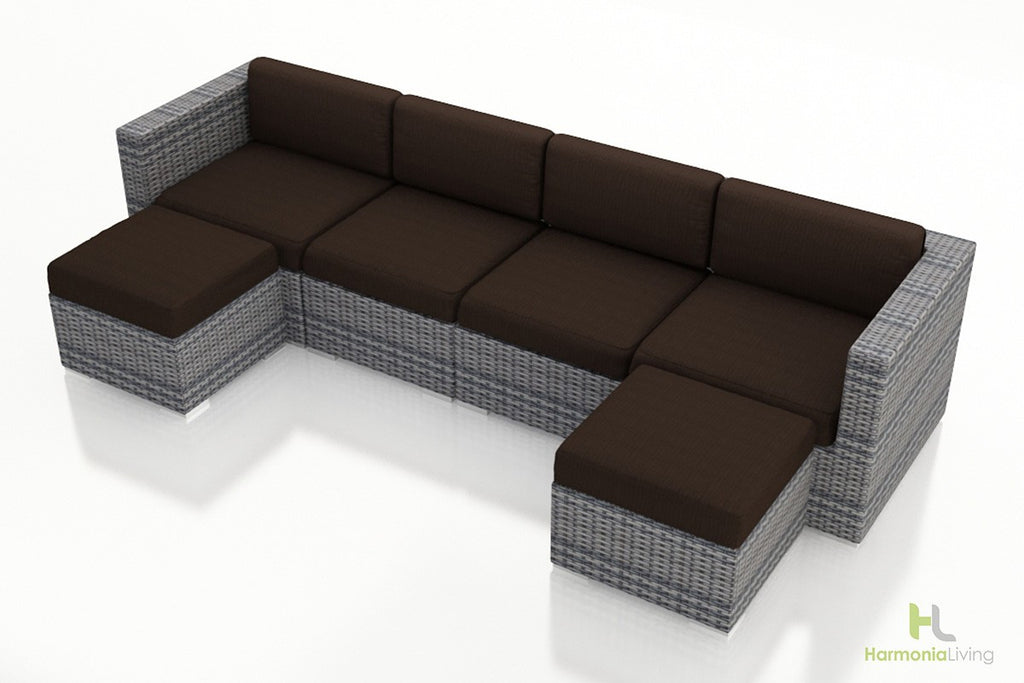 District 6 Pc. Double Chaise Sectional - Skylar's Home and Patio