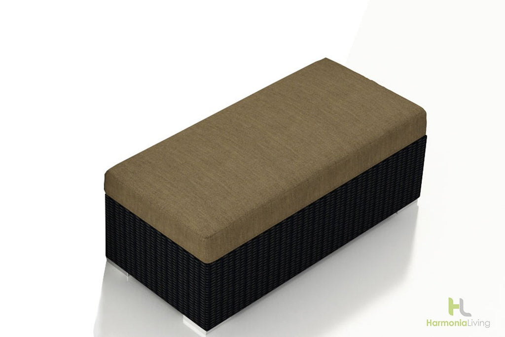 Urbana Coffee Bean Double Ottoman - Skylar's Home and Patio