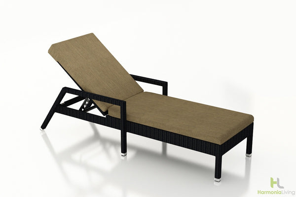 Urbana Coffee Bean Reclining Chaise Lounge - Skylar's Home and Patio